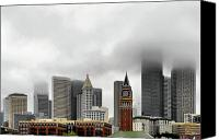 City Canvas Prints - Fog accents of Seattle WA Canvas Print by Christine Till