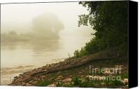 Steve Augustin Canvas Prints - Fog along the Red Canvas Print by Steve Augustin