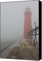 Jetty Canvas Prints - Foggy Day Canvas Print by Adam Romanowicz