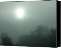 Nan Wright Canvas Prints - Foggy Morn Canvas Print by Nan Wright