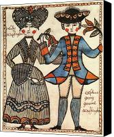 First Couple Canvas Prints - Folk Art: Washingtons Canvas Print by Granger