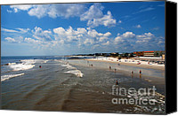 Fun Houses Canvas Prints - Folly Beach Charleston South Carolina Canvas Print by Susanne Van Hulst