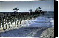 Lowcountry Canvas Prints - Folly Beach Pier Canvas Print by Dustin K Ryan