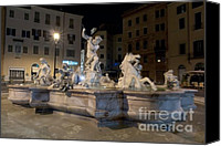 Fontain Canvas Prints - Fontana del Nettuno I Canvas Print by Fabrizio Ruggeri