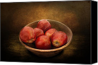 Fruits Canvas Prints - Food - Apples - A bowl of apples  Canvas Print by Mike Savad