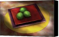 Limes Canvas Prints - Food - Limes Canvas Print by Mike Savad