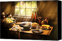 Colonial Kitchen Canvas Prints - Food - Ready for Guests Canvas Print by Mike Savad