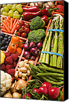 Vegetarian Canvas Prints - Food Compartments  Canvas Print by Garry Gay