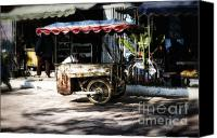 Push Cart Artist Canvas Prints - Food Stand Canvas Print by Thanh Tran