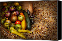 Peppers Canvas Prints - Food - Vegetables - Very early harvest Canvas Print by Mike Savad