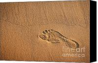 Barefoot Canvas Prints - Foot Print Canvas Print by Carlos Caetano