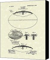Football Drawings Canvas Prints - Football 1903 Jacobs Patent Art Canvas Print by Prior Art Design