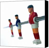 Player Canvas Prints - Football figurines Canvas Print by Bernard Jaubert