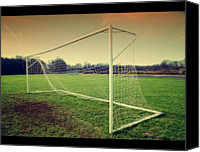  Goal Canvas Prints - Football Goal Canvas Print by Federico Scotto
