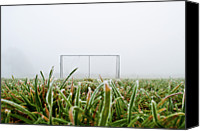  Goal Canvas Prints - Football Goal Canvas Print by Ulrich Mueller