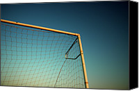  Goal Canvas Prints - Football Goalpost And Net Canvas Print by Kevin Button