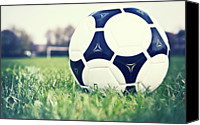  Goal Canvas Prints - Football Canvas Print by Sally Anscombe