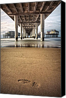 Pillars Canvas Prints - Footprints in the Sand Canvas Print by David Bowman