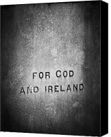 Politics Photo Canvas Prints - For God and Ireland Macroom Ireland Canvas Print by Teresa Mucha