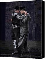 Tango Canvas Prints - For Men Only - Tango Series Canvas Print by Raul Villalba