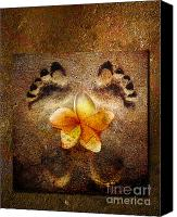Yellow Mixed Media Canvas Prints - For the love of Me Canvas Print by Photodream Art