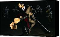 Dancers Canvas Prints - For the Love of Tango Canvas Print by Richard Young