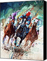 Race Horse Posters Canvas Prints - For The Roses Canvas Print by Hanne Lore Koehler