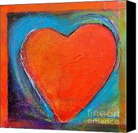 Abstract Heart Canvas Prints - For You Heart 2 Canvas Print by Johane Amirault