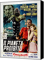 1956 Movies Canvas Prints - Forbidden Planet Aka Il Pianeta Canvas Print by Everett