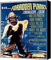 1956 Movies Canvas Prints - Forbidden Planet, Left Robby The Robot Canvas Print by Everett