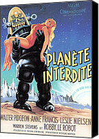 1956 Movies Canvas Prints - Forbidden Planet, Robby The Robot Canvas Print by Everett