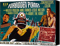 1956 Movies Canvas Prints - Forbidden Planet, Walter Pidgeon, Anne Canvas Print by Everett