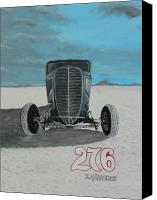 Chris Lambert Canvas Prints - Ford 34 At Bonneville Canvas Print by Chris Lambert