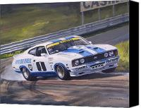 Australian Ford Canvas Prints - Ford Cobra - Moffat racing Australia Canvas Print by Colin Parker