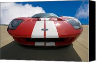 Red Car Canvas Prints - Ford GT Canvas Print by Peter Tellone