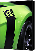 Boss Digital Art Canvas Prints - Ford Mustang - BOSS 302 Canvas Print by Gordon Dean II