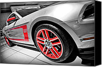 2012 Digital Art Canvas Prints - Ford Mustang Boss 302 Canvas Print by Gordon Dean II