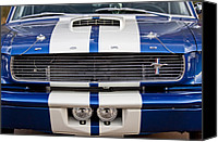 Muscle Car Photo Canvas Prints - Ford Mustang Grille Emblem Canvas Print by Jill Reger