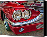 Ford Sedan Canvas Prints - Ford Thunderbird 1965 Canvas Print by Andreas Freund