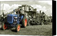 Blandford Canvas Prints - Fordson and the Threshing Machine Canvas Print by Rob Hawkins