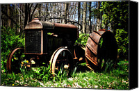 Son Canvas Prints - Fordson Tractor Canvas Print by Bill Cannon