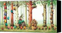 Forest Canvas Prints - Forest Eggs Canvas Print by Kestutis Kasparavicius