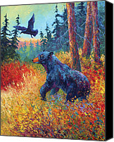 Marion Rose Canvas Prints - Forest Friends Canvas Print by Marion Rose