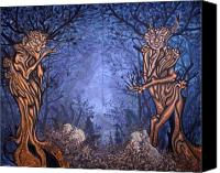 Fantasy Painting Canvas Prints - Forest Canvas Print by Judy Henninger