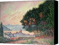 Signac Canvas Prints - Forest near St Tropez Canvas Print by Paul Signac
