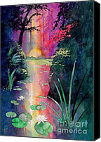 Japanese Canvas Prints - Forest Pond Canvas Print by Robert Hooper