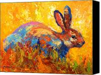 Hare Canvas Prints - Forest Rabbit II Canvas Print by Marion Rose