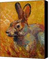 Hare Canvas Prints - Forest Rabbit III Canvas Print by Marion Rose