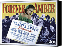 Posth Canvas Prints - Forever Amber, Linda Darnell, 1947 Canvas Print by Everett