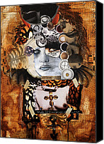 Raw Mixed Media Canvas Prints - Forever Canvas Print by Michel  Keck